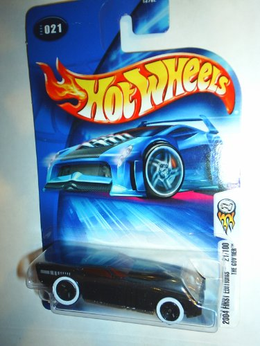 2004 - Mattel - Hot Wheels - First Editions - #21 of 100 - The Gov'Ner - Rare Variant: Thick White Walls / Gloss Black / Red Tint Windows / No Red Tail Lights / No HW Logo - Collector #021 - New - Out of Production - Limited Edition - Collectible