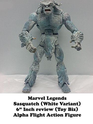 "Marvel Legends SASQUATCH white variant (Alpha Flight) 6"" inch review (Toy Biz) action figure"