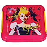 Disney Cinderella Lunch Box, 330ml, Pink/Yellow
