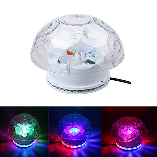 Dbpower Rgb Tempo Voice Sound Activated Led Crystal Magic Ball Dj Stage Lighting For Home Party, Disco, Ballroom, Ktv, Bar, Stage, Club