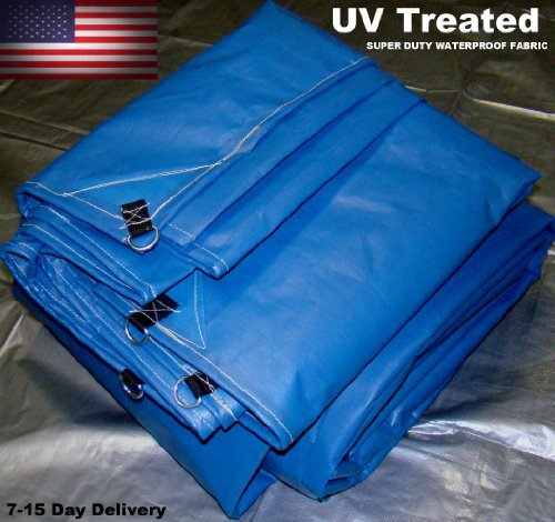 20x20 New Heavy Duty USA Blue Tarp