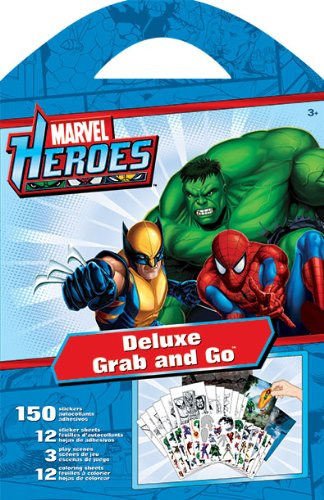Sandylion Marvel Heroes Grab and Go Deluxe Stickers