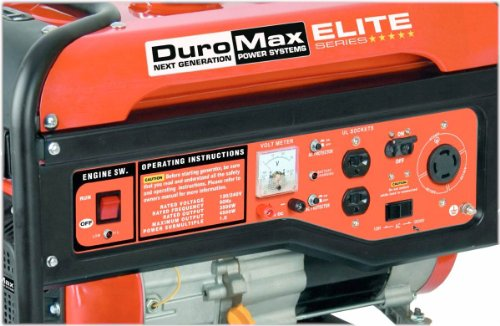 DuroMax DuroMax Elite MX4500 4,500 Watt 7 HP OHV 4-Cycle Gas Powered Portable Generator With Wheel Kit