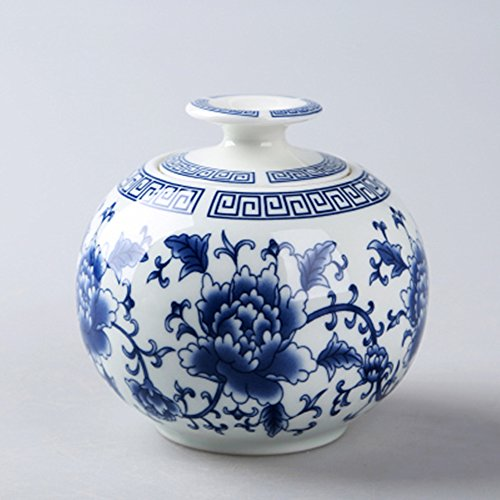 Tea caddy tins tea leaf set tea canister tea storage jar dried fruit cans Chinese blue and white porcelain