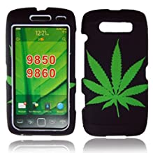 Cellularvilla Trademark for Blackberry Torch 9860 9850 green leaf Design Hard Phone Case Cover. Free Cellularvilla Wrist Band Included