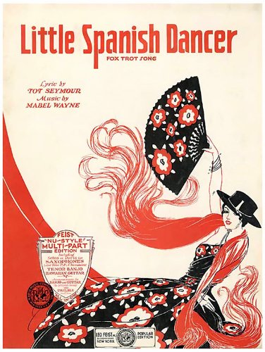 Window Cling Sheet Music Little Spanish Dancer