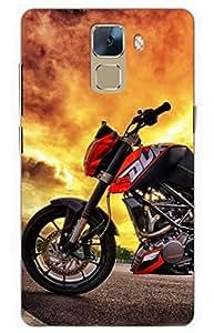 bike Designer Printed Back Case Cover for Huawei Honor 7