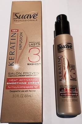 Suave Professionals ~ Keratin Infusion Heat Activated Smoothing Creme 3oz (Quantity 1)