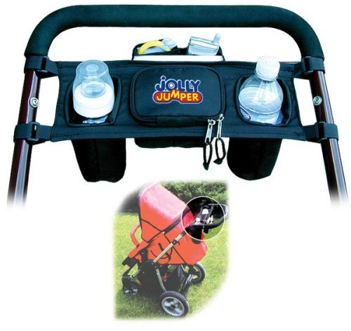 Similar product: Jolly Jumper Stroller Caddy - Stroller Handlebar Organizer