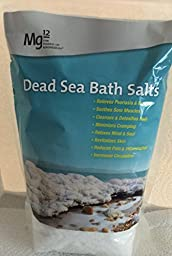 M12 the Power of Magnesium, Dead Sea Bath Salts, Relieves Psoriasis and EczemaM12 dead sea salt Revitalizes Skin, Reduces Pain and Inflammation Increases Circulation, size 2.2 lbs