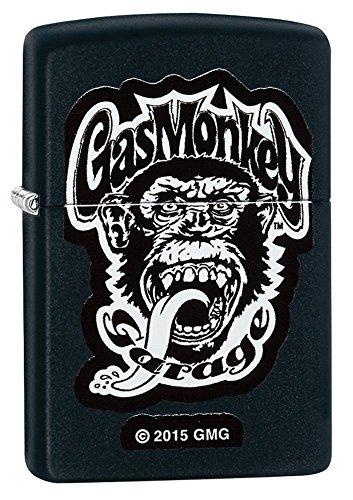 Zippo Gas Monkey Garage Pocket Lighter, Black Matte (Gas Zippo compare prices)
