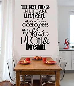 Amazon Com The Best Things In Life Are Unseen Vinyl Wall