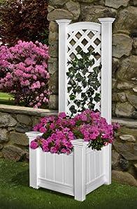 New England Arbors Kensington Planter Box and Trellis