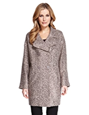 M&S Collection Sequin Embellished Coat with Wool