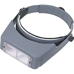 Donegan OptiVisor Headband Magnifier 2X Magnification: Industrial & Scientific