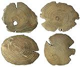 Genuine Teak Wood Coasters 4-5 Inches - Set of 4