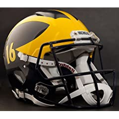 MICHIGAN WOLVERINES NCAA Riddell Revolution SPEED Football Helmet (w player # of YOUR... by ON-FIELD
