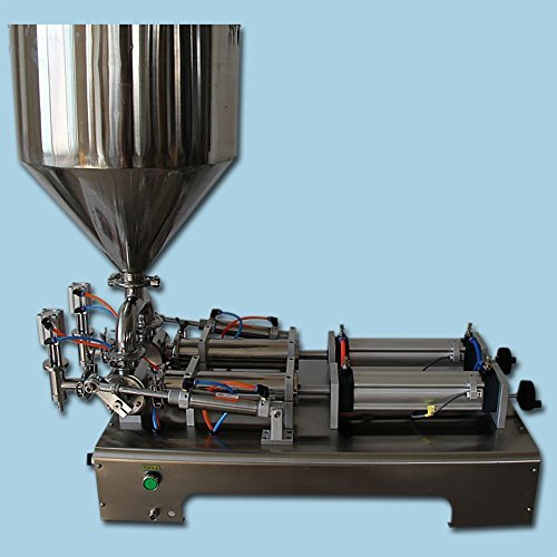 YOLI® cream cosmetic sauce filling machine, two heads with big hopper piston filler,1000ml liquid paste filling machine with bottle capper