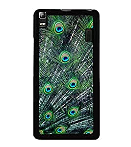 printtech Peacock Feathers Back Case Cover for Lenovo K3 Note