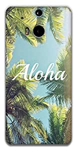 The Racoon Grip aloha hard plastic printed back case / cover for HTC One (M8)