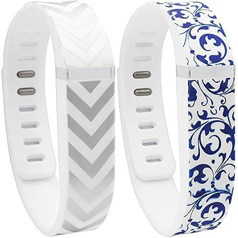 SKYLET Replacement Bands for Fitbit Flex(Small,Arrow & Porcelain) - 2s Ap