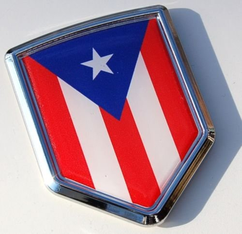 Car Chrome Decals CBSHD171 Puerto Rico Decal Flag Car Chrome Emblem Sticker bumper badge Puerto Rican 3D (Puerto Rico Auto Decals compare prices)