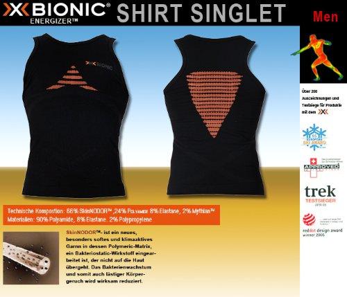 X-Bionic Herren ENERGIZER Singlet Gr.S/M black/oran.