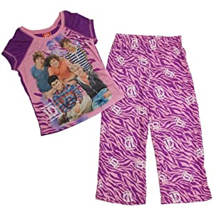 One Direction Girls 4-14 Animal Print Poly Pajama Set