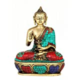 Redbag Lord Medicine Buddha Brass Statue (24.77 Cm, 17.78 Cm, 10.16 Cm)