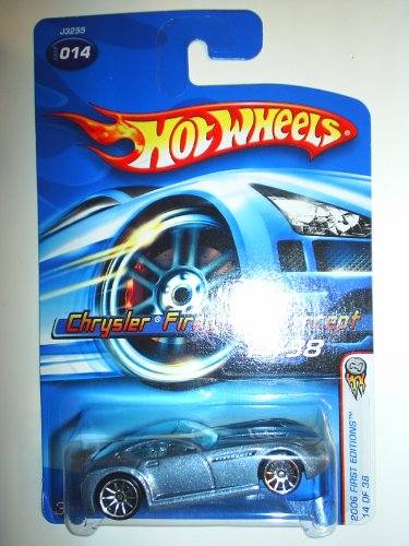 Mattel Hot Wheels 2006 First Editions 1:64 Scale Blue Chrysler Firepower Concept Die Cast Car #014 - 1