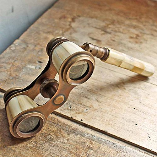 Brass Binocular Mother of Pearl - Antique Opera Binocular By NauticalMart 1