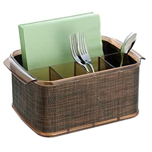Amazon.com: InterDesign Twillo Flatware Caddy, Bronze/Sand: Home ...