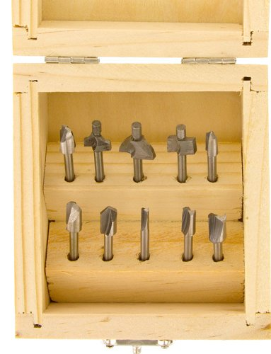 SE 82210RB 10-Piece Mini Router Bits Set for Dremel Tools