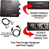 HDMI Converter for Google Chromecast: Use Chromecast with Older TVs that have Composite (red/white/yellow) Inputs. Includes Converter, Power Adapter Cable and Composite Video Cable. [NOTE: CHROMECAST SOLD SEPARATELY]