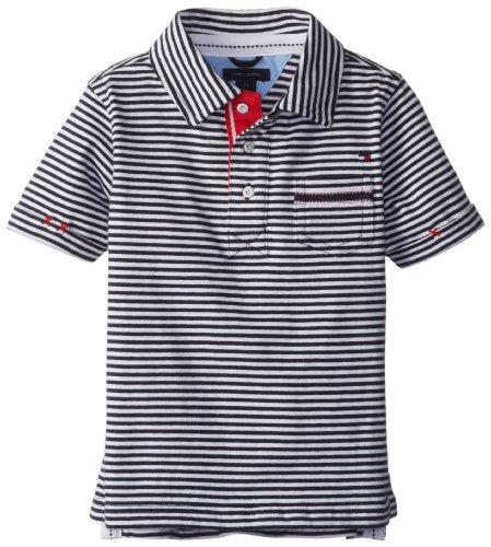 Tommy Hilfiger Boys 2-7 Short Sleeve Hendrick Polo, Swim Navy, 5