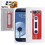Tigerbox Flexible Silicone Retro Cassette Tape Style Skin Cover Case for Samsung Galaxy S3 i9300 Mobile Phone (White)