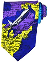 Hinky Imports Global Airplane Tie, World Map Tie