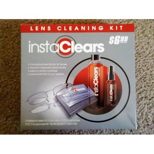 InstaClears Glasses and Lens Cleaning Kit (Towelettes, Liquid Cleaner