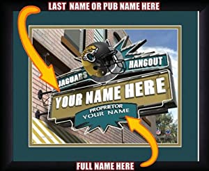 NFL Personalized Sports Pub Custom Framed Hangout Print Jacksonville Jaguars by You