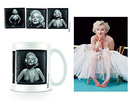 Set: Marilyn Monroe, Film Strips Photo Coffee Mug (4x3 inches) And 1 Marilyn Monroe, Postcard (6x4 inches) (Marilyn Monroe Coffee Mug Set compare prices)