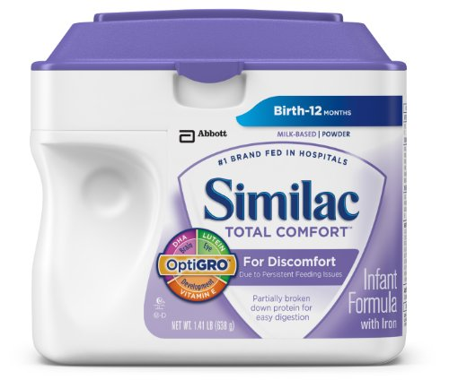 Similac Total Comfort Infant Formula with Iron, Powder, 22.6 Ounces (Pack of 4) - 1