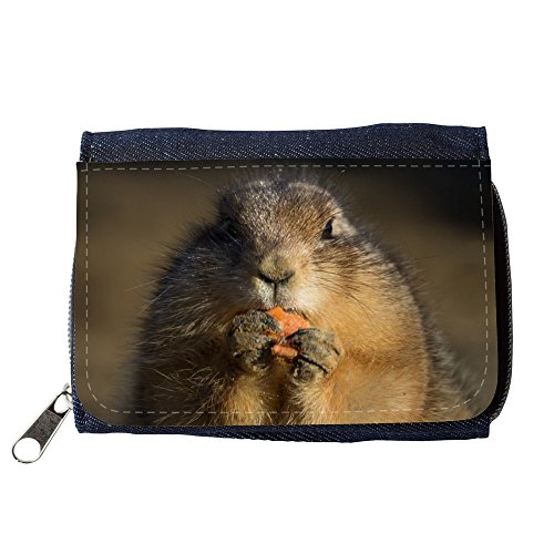 Cartera unisex // M00239698 Prairie Dog Eating Carino Piccolo // Purse Wallet