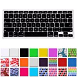 HDE Silicone Rubber Keyboard Skin for Macbook & Macbook Pro (Black)