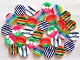 usausaのお店 カラフル模様のプラスチックボタン 6種類30個セット(13mm)
