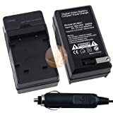 Nikon EN-EL10 AC / DC Replacement Battery Charger Set for Nikon CoolPix S20 ....
