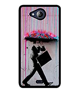 Fuson 2D Printed Boy Designer back case cover for Micromax Canvas Play Q355 - D4557