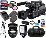 Sony HXR-MC2000U HXRMC2000 Shoulder Mount AVCHD Camcorder Advanced Package Includes 0.45x Wide Angle Lens + 2X Telephoto Lens + 32GB SDHC Memory Card + More!!!!