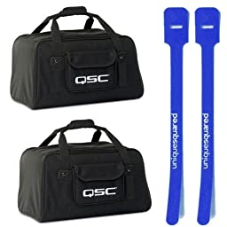 QSC K10 Carry Bag Pair - Tote for K-10 Active Speaker w/ Cable Ties
