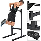 Yaheetech Heavy Duty Dip Stand Parallel Bar Bicep Triceps Home Gym Dipping Station
