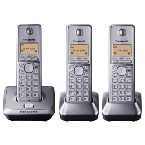 Panasonic KX-TG2713EM DECT Cordless Telephone - Triple Pack images